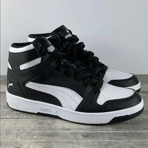 Puma Rebound Layup High Top Sneakers Black/White